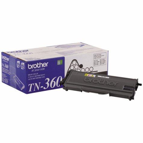 Brother TN360 Toner Cartridge, Black (2,600 Page Yield)