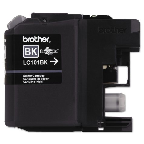 Brother LC101BK Ink, Black (300 Page-Yield)