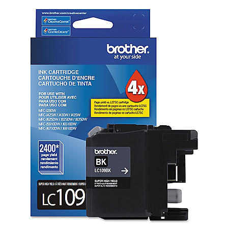 Brother LC109BK Super High-Yield Ink, Black (2400 PageYield)