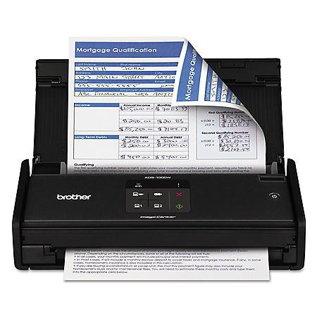Brother ImageCenter ADS-1000W Wireless Compact Scanner, 600 x 600 dpi, 20 Sheet ADF