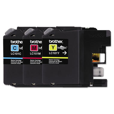 Brother LC1013PKS Ink, Cyan/Magenta/Yellow (300 page yield, 3 pk.)