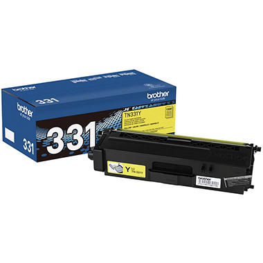 Brother - TN331Y (TN-331Y) Toner, 1500 Page-Yield -  Yellow