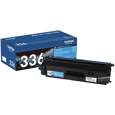 Brother - TN336C (TN-336C) High-Yield Toner, 3500 Page-Yield -  Cyan