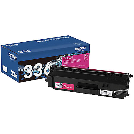 Brother - TN336M (TN-336M) High-Yield Toner, 3500 Page-Yield -  Magenta