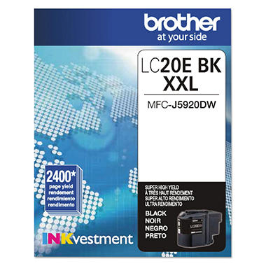 Brother - LC20E Series Super High-Yield INKvestment Ink - Choose Color