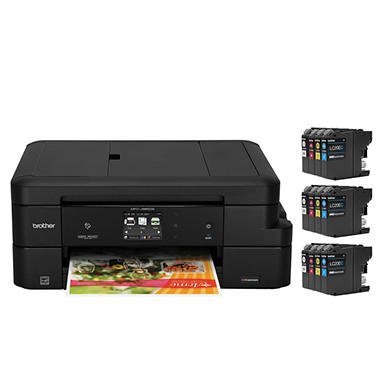 Brother MFC-J985DWXL Work Smart Copy/Fax/Print/Scan, 12 INKvestment Cartridges
