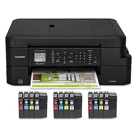 Brother MFCJ775DWXL All-In-One Inkjet Printer, Copy/Fax/Print/Scan