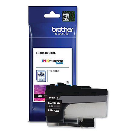 Brother LC3033BK INKvestment Super High-Yield Ink, 3000 Page-Yield, Black