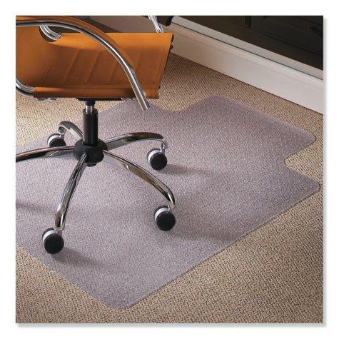 """ES Robbins 36"""" x 48"""" Natural Origins Chair Mat With Lip For Carpet, Clear"""