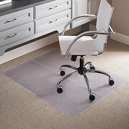 "ES Robbins 39"" x 47"" Rectangle Folding Chair Mat for Carpet"