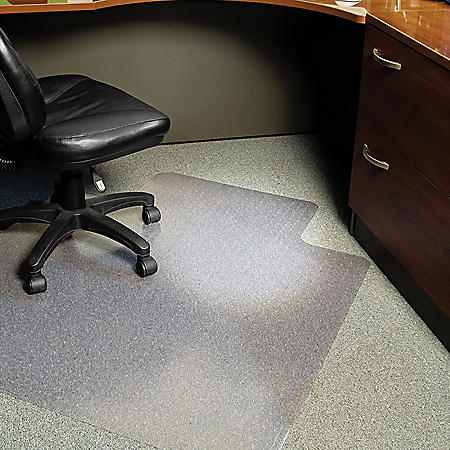 "ES Robbins® Task Series AnchorBar Chair Mat for Carpet up to 0.25"", 45 x 53, Clear"