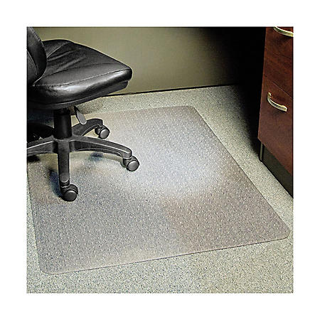 "ES Robbins® Task Series AnchorBar Chair Mat for Carpet up to 0.25"", 46 x 60, Clear"