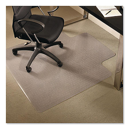 ES Robbins® EverLife Chair Mats for Medium Pile Carpet with Lip, 45 x 53, Clear