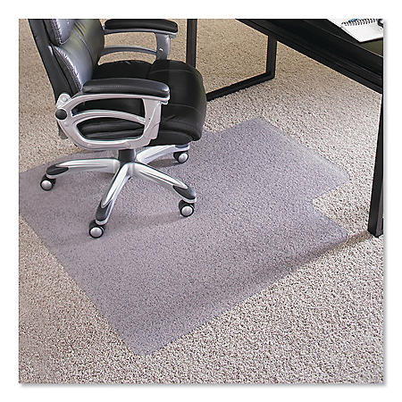 "ES Robbins® Performance Series Chair Mat with AnchorBar for Carpet up to 1"", 36 x 48, Clear"