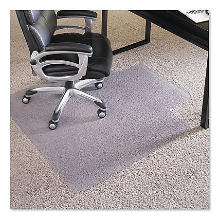 "ES Robbins® Performance Series AnchorBar Chair Mat for Carpet up to 1"", 45 x 53, Clear"