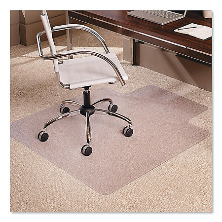 "ES Robbins® Multi-Task Series AnchorBar Chair Mat for Carpet up to 0.38"", 45 x 53, Clear"