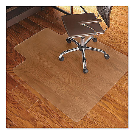 ES Robbins® Economy Series Chair Mat for Hard Floors, 45 x 53, Clear