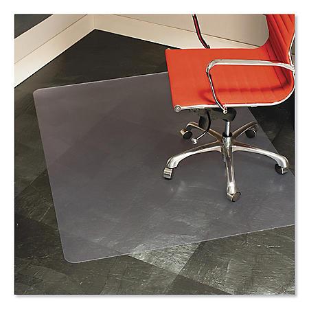 ES Robbins® Multi-Task Series Chair Mat for Hard Floors, Heavier Use, 46 x 60, Clear