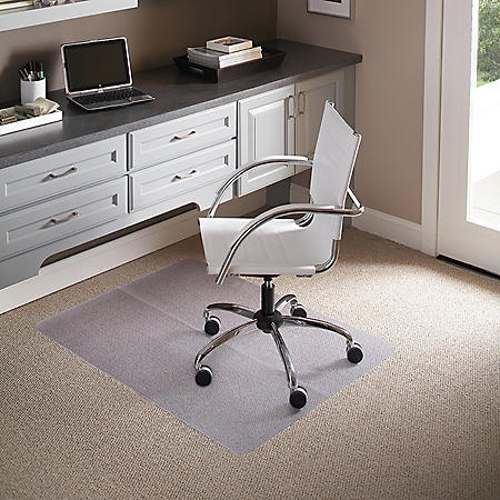 """Chair Mat for Carpet 36""""x 48"""" Rectangle, Clear"""