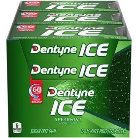 Dentyne Ice Spearmint Sugar Free Gum (16 ct., 12 pk.)