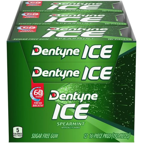 Dentyne Ice Spearmint Sugar Free Gum (16 ct., 12 pk.)