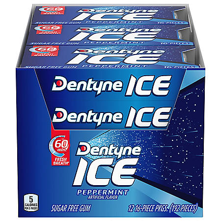Dentyne Ice Peppermint Sugar Free Gum (12 pk.)