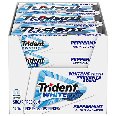 Trident White Peppermint Sugar Free Gum (16 pc., 12 pks.)
