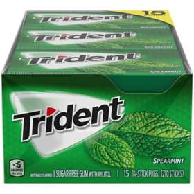 Trident Spearmint Sugar-Free Gum (14 ct., 15 pks.)