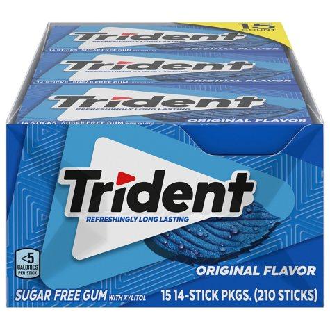 Trident Original Sugar-Free Gum (14 ct., 15 pks.)