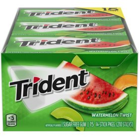 Trident Watermelon Sugar-Free Gum (14ct., 15 pks.)