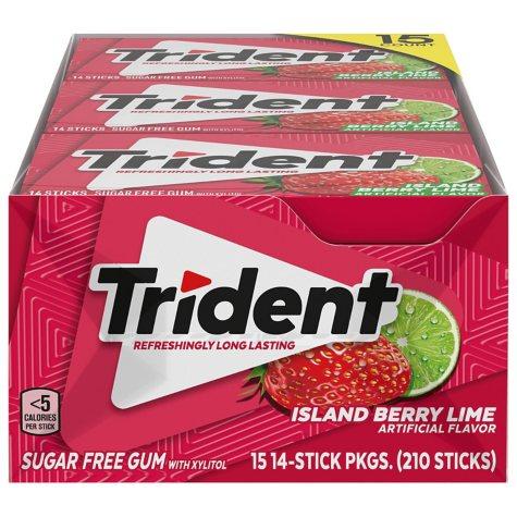 Trident Island Berry Lime Sugar-Free Gum (14 ct., 15 pks.)