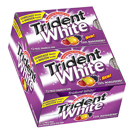 Trident White® Cool Mangoberry - 12/12pc Pkgs