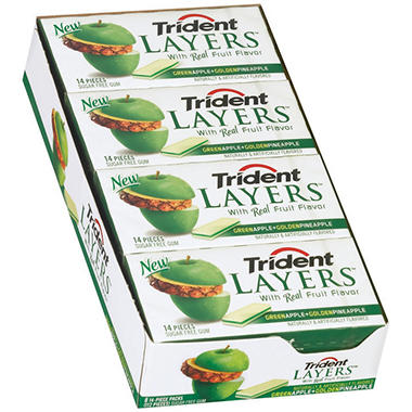 Trident Layers™ Apple + Pineapple Gum - 8/14 ct.
