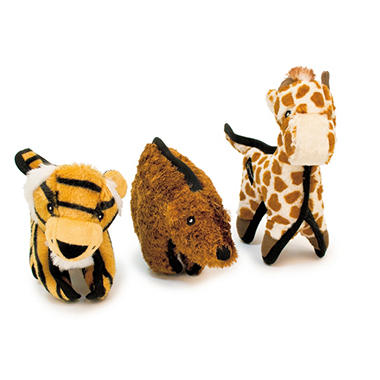 Hyper Pet Tough Plush Dog Toy Pack