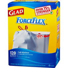 Glad® ForceFlex® Tall Kitchen - 13 gal - 120 ct.