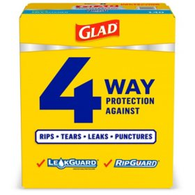 Glad Forceflexplus Tall Kitchen Drawstring Trash Bags Unscented 13 Gallon 140 Count