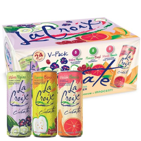 LaCroix Curate Tall Can Sparkling Water Variety Pack  (12 oz., 24 ct.)
