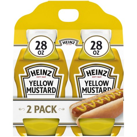 Heinz Yellow Mustard (28 oz., 2 pk.)