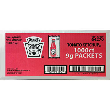 Heinz Ketchup Packets - 1,000 ct.