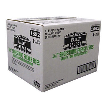 Valley Select® Shoestring French Fries - 6/5lb
