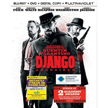 Django Unchained (Blu-ray + DVD + VUDU UltraViolet Copy) (Walmart Exclusive) (Widescreen)