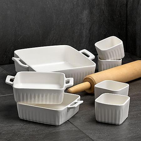 Overandback 7-Piece Porcelain Bakeware Set