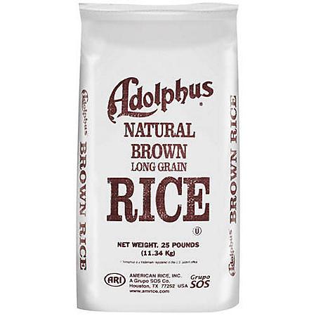 Adolphus® Natural Brown Long Grain Rice - 25lb