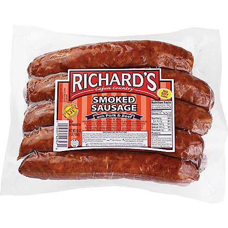 Richard's Pork and Beef Smoked Sausage (3 lbs.)