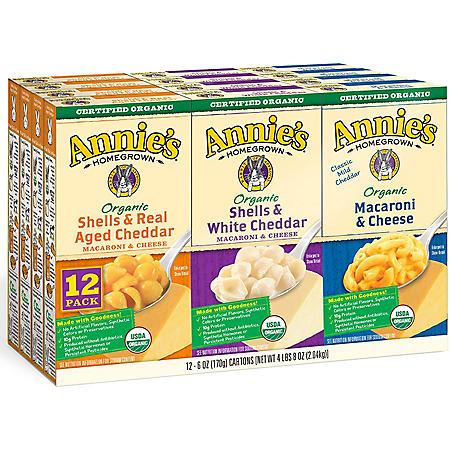 Annie's Organic Mac and Cheese Variety Pack (12 ct.)