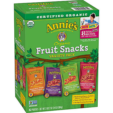 Annie's Organic Bunny Fruit Snacks Variety Pack (42 ct.)