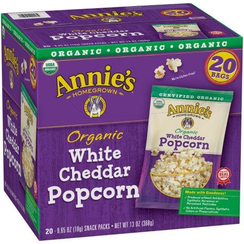 Annie's Organic White Cheddar Popcorn (0.65 oz., 20 pk.)