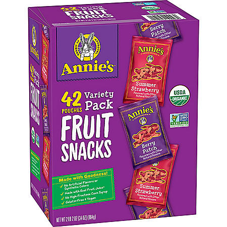 Annie's Organic Fruit Snack Variety Pack (0.8 oz., 42 ct.)