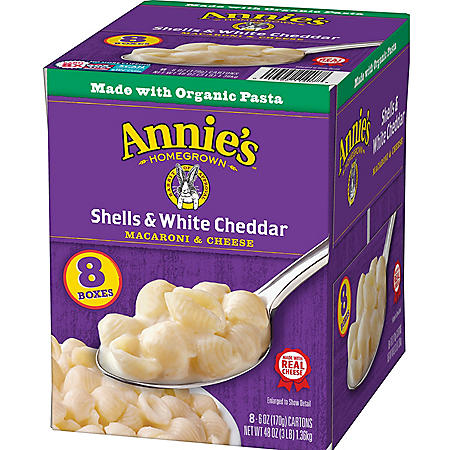 Annie's Organic Shells and White Cheddar Macaroni and Cheese (6 oz., 8pk.)