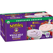 Annie's Original Whole Milk Yogurt Cups, Berry/Strawberry (16 ct.)